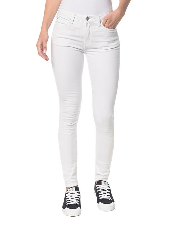 Calça Color Five Pockets Super Skinny - Branco 2 - 34
