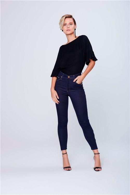 Calça Cropped Jeans Cintura Super Alta