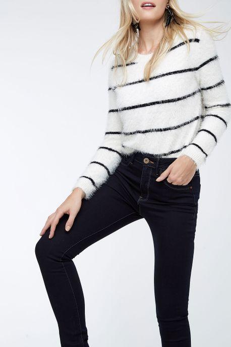 Calça Dark High Skinny Jeans Escuro - 38