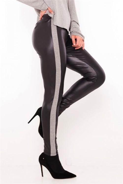Calça Feminina Legging em Cirrê Preto CL0593 - Kam Bess