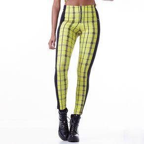 Calça Feminina Neon Check Beverly - M