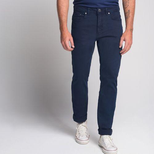 Calça Five Pockets Lavada Azul - 48