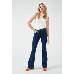Calça Flare Jeans Basic Jeans Azul - 36