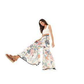 Calça Floral Oriental Off White - M