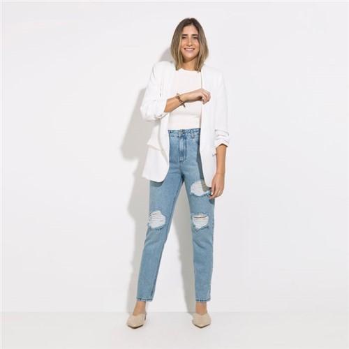 Calça Houston - Jeans Delave Destroyed - 42
