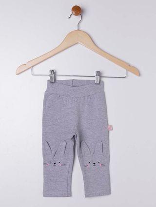 Calça Infantil para Bebê Menina - Cinza