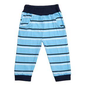 Calça Infantil para Bebê Menino - Azul M