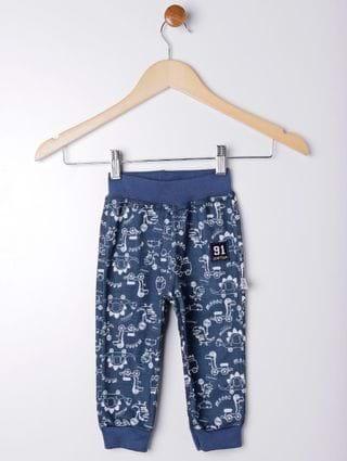 Calça Infantil para Bebê Menino - Azul Marinho