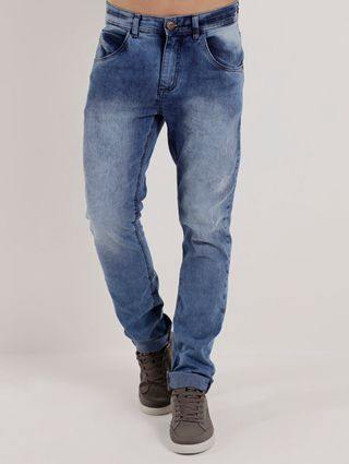 Calça Jeans Adulto Masculina Vels Azul