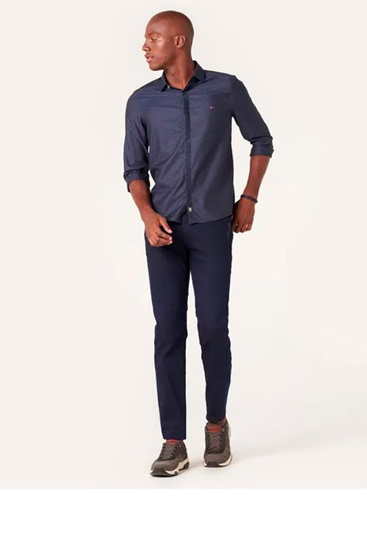 Calça Jeans Aramis Milão Dark Puídos Azul Tam. 38
