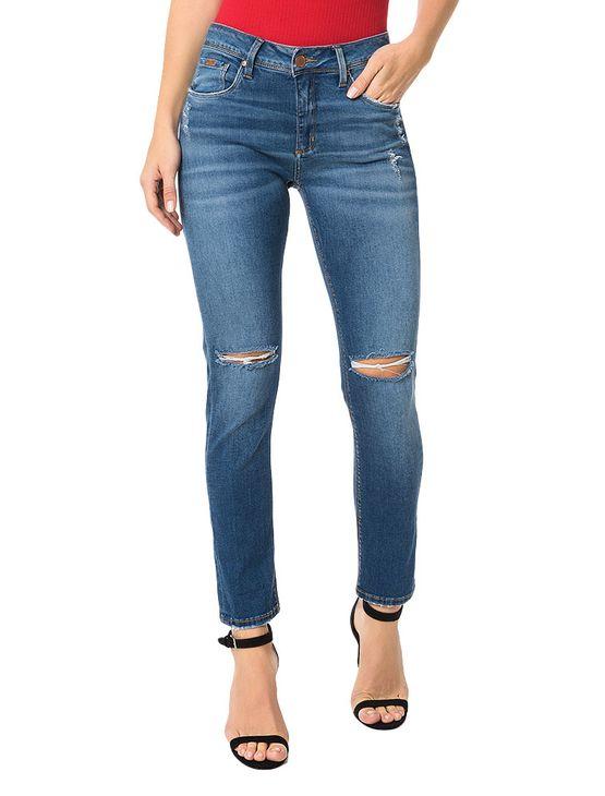 Calça Jeans Azul Médio Calvin Klein Jeans Five Pockets Skinny High - 38