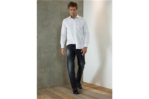 Calça Jeans Barcelona Bordado - Cinza - 42