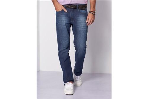 Calça Jeans Barcelona com Recorte - Azul - 44