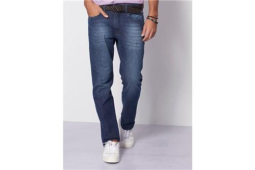 Calça Jeans Barcelona com Recorte - Azul - 50