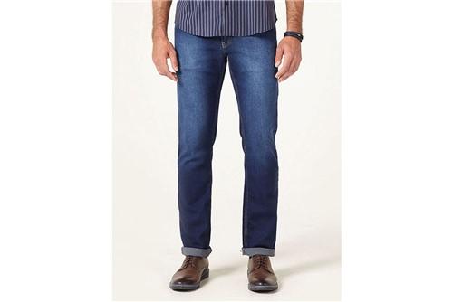 Calça Jeans Barcelona com Recorte - Azul - 52