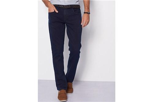 Calça Jeans Barcelona Detalhe Avesso - Azul - 50