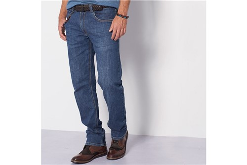 Calça Jeans Barcelona Dirty - Azul - 40