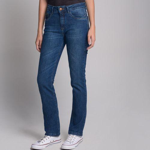 Calça Jeans Barra Virada Azul Escuro - 42