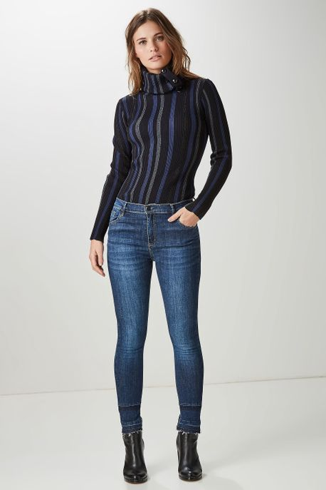 Calça Jeans Básica Azul - 42