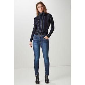 Calça Jeans Básica Azul Denim - 42