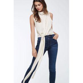 Calça Jeans Básica Azul Denim - 34
