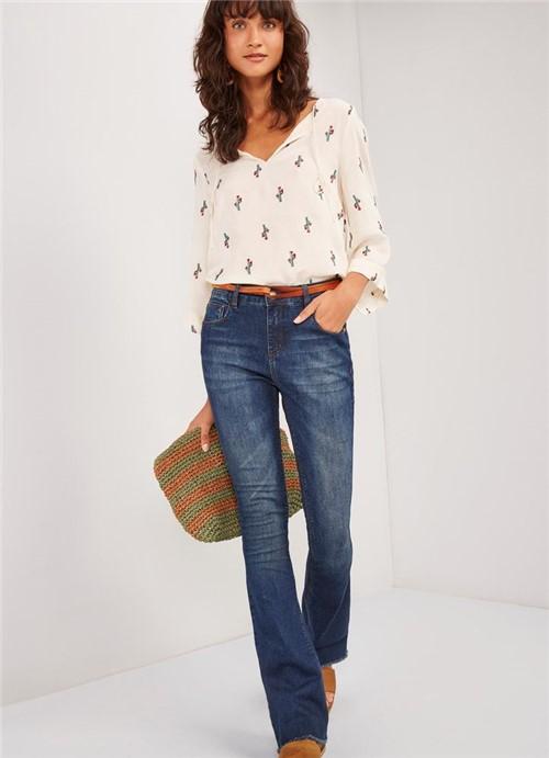 Calça Jeans Bootcut Cintura Média Comfort JEANS 34