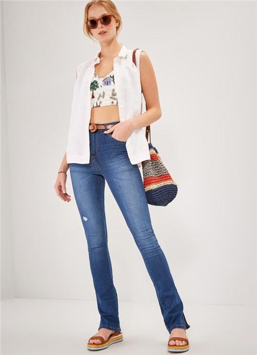 Calça Jeans Bootcut Cintura Média Comfort JEANS 42