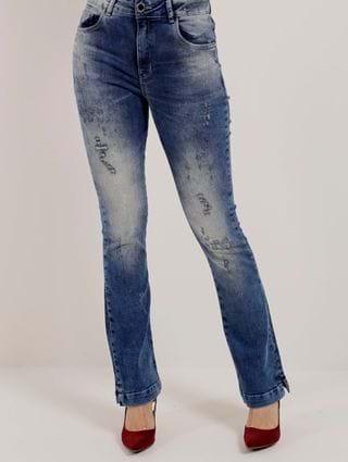 Calça Jeans Bootcut Feminina Zune Azul