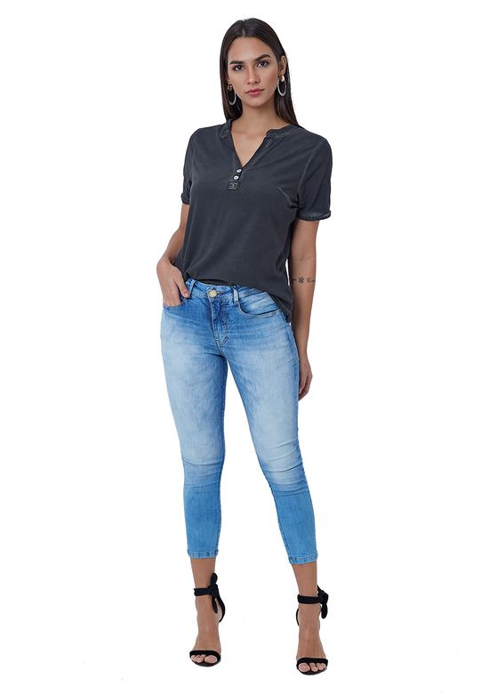 Calça Jeans Capri Básica