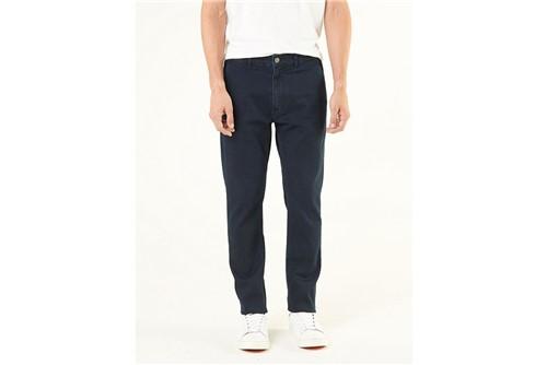 Calça Jeans Chino Viscose - Azul - 38