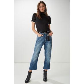 Calça Jeans Cinto Borla Azul Denim - 38