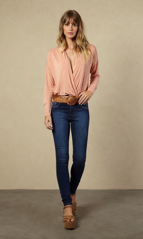 Calça Jeans Cintura Alta Skinny 38 - JEANS