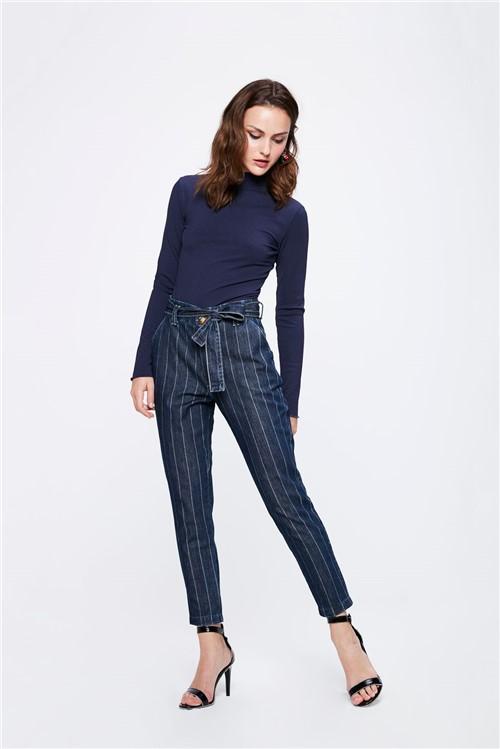 Calça Jeans Clochard Risca de Giz