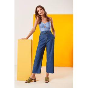 Calça Jeans com Cinto Gabi Jeans - 44