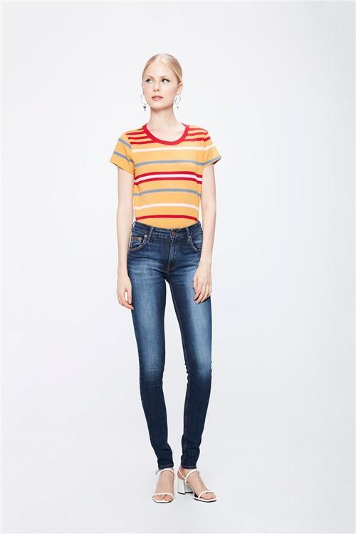 Calça Jeans com Cintura Média Feminina