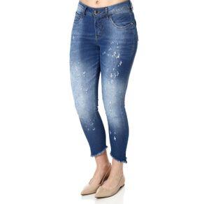 Calça Jeans Cropped Feminina Über Azul 36