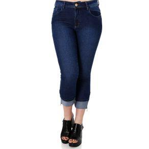 Calça Jeans Cropped Feminina Zune Azul 42