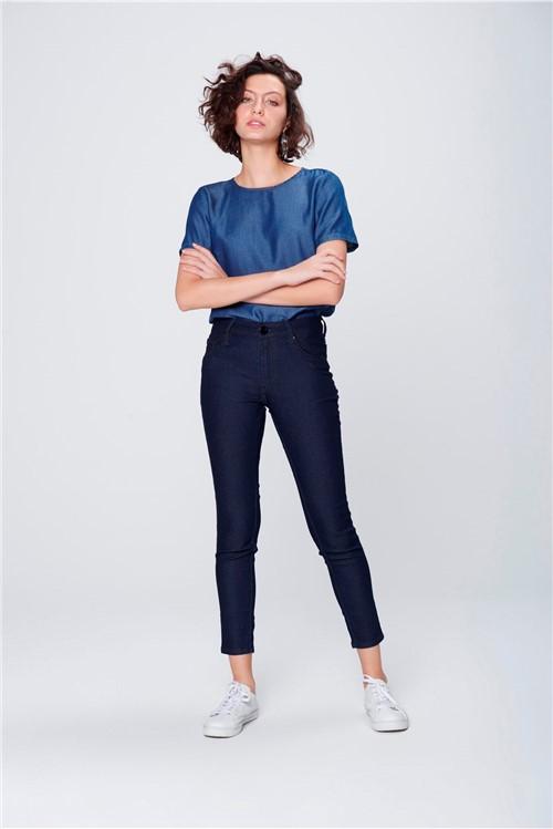 Calça Jeans Cropped Jegging Feminina
