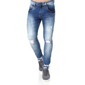 Calça Jeans Cropped Masculina Rock&Soda Azul 46