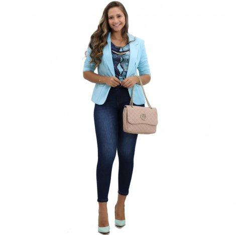 Calça Jeans Dardak Skinny com Cinto - Jeans 9492
