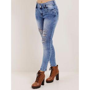 Calça Jeans Destroyed Feminina Über Azul 36