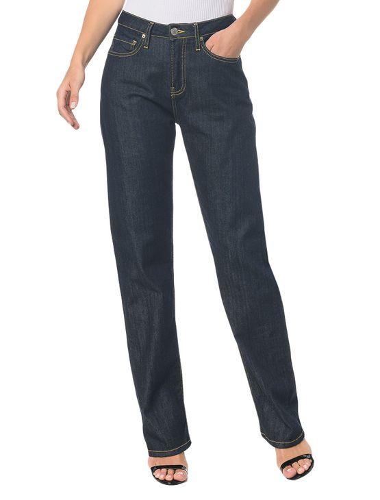 Calça Jeans F Pockets Ckj 030 High Rise Straigh - Marinho - 34