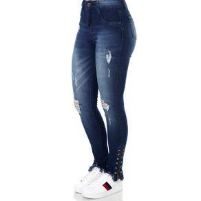 Calça Jeans Feminina Amuage Azul Calça Jeans Feminina Azul 46