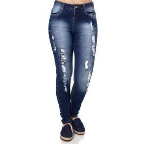 Calça Jeans Feminina Azul 46