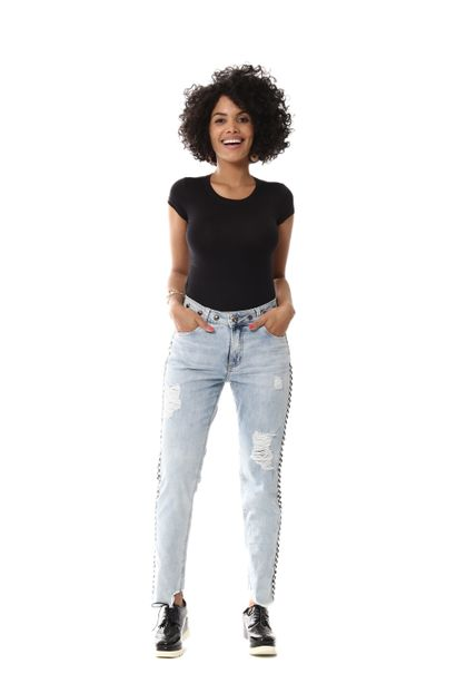 Calça Jeans Feminina Boyfriend - 255539 36