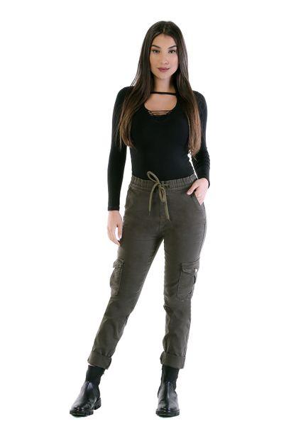 Calça Jeans Feminina Cargo - 261828 36