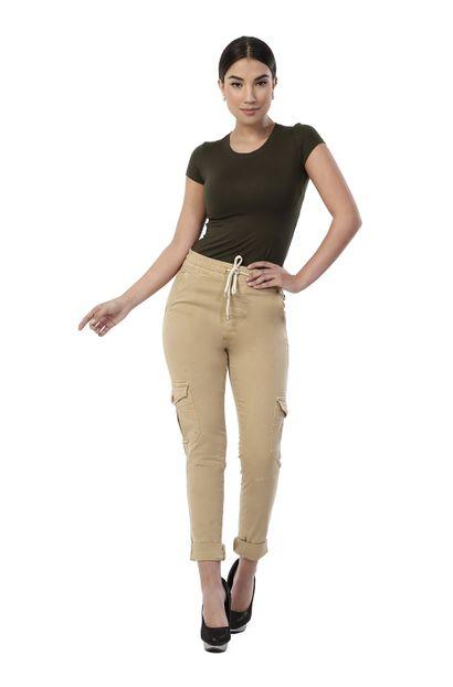 Calça Jeans Feminina Cargo - 261933 36
