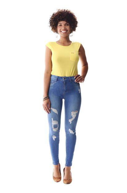 Calça Jeans Feminina Cigarrete - 257058 36