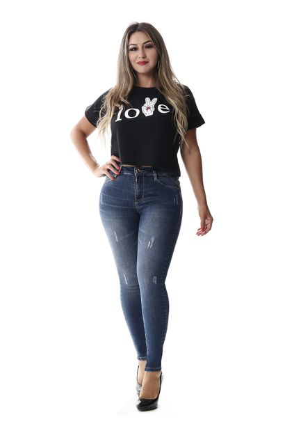Calça Jeans Feminina Cigarrete - 257789 36
