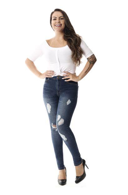 Calça Jeans Feminina Cigarrete - 258043 36